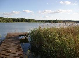 Prywatny pomost wędkarski, do dyspozycji kanu,kajak,rower wodny i łódka.