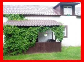 Domek murowany numer dwa wejscie